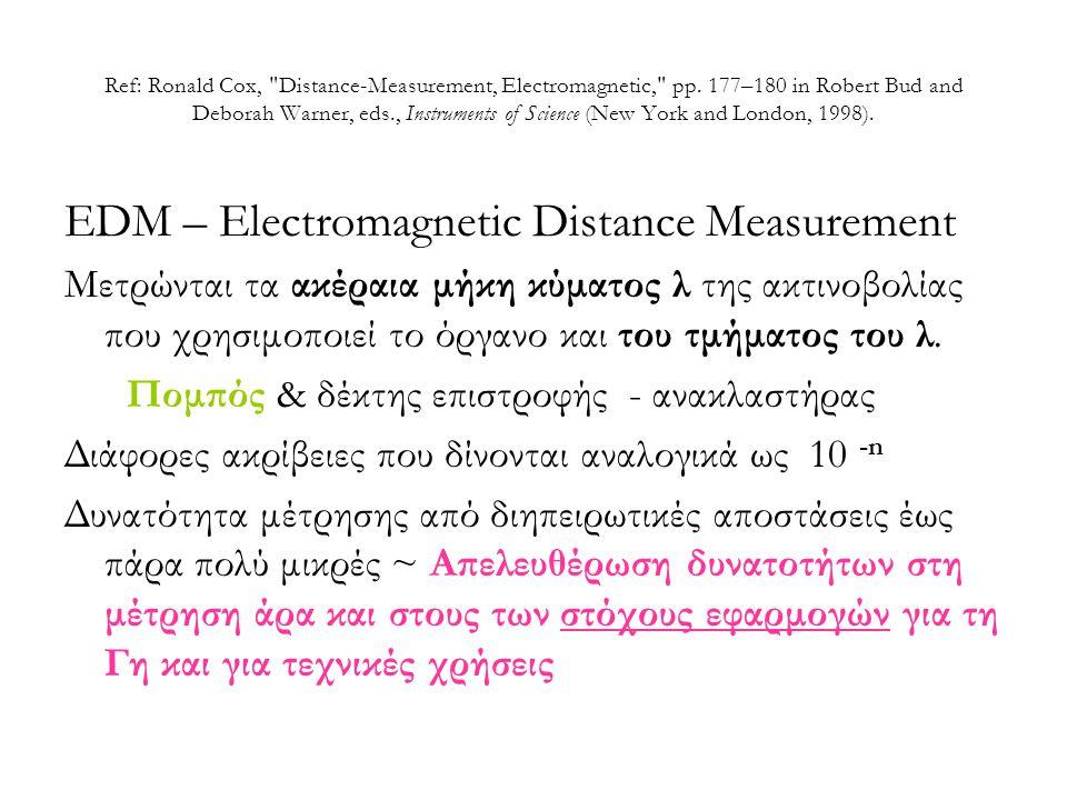 Ref: Ronald Cox, Distance-Measurement, Electromagnetic, pp.