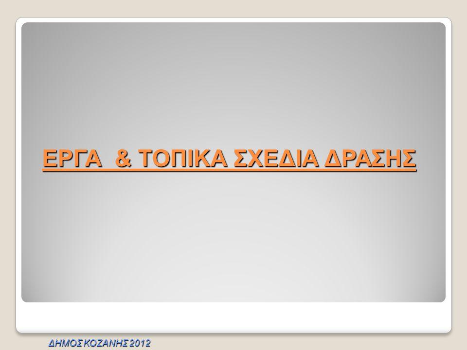 ΕΡΓΑ & ΤΟΠΙΚΑ ΣΧΕΔΙΑ ΔΡΑΣΗΣ ΔΗΜΟΣ ΚΟΖΑΝΗΣ 2012