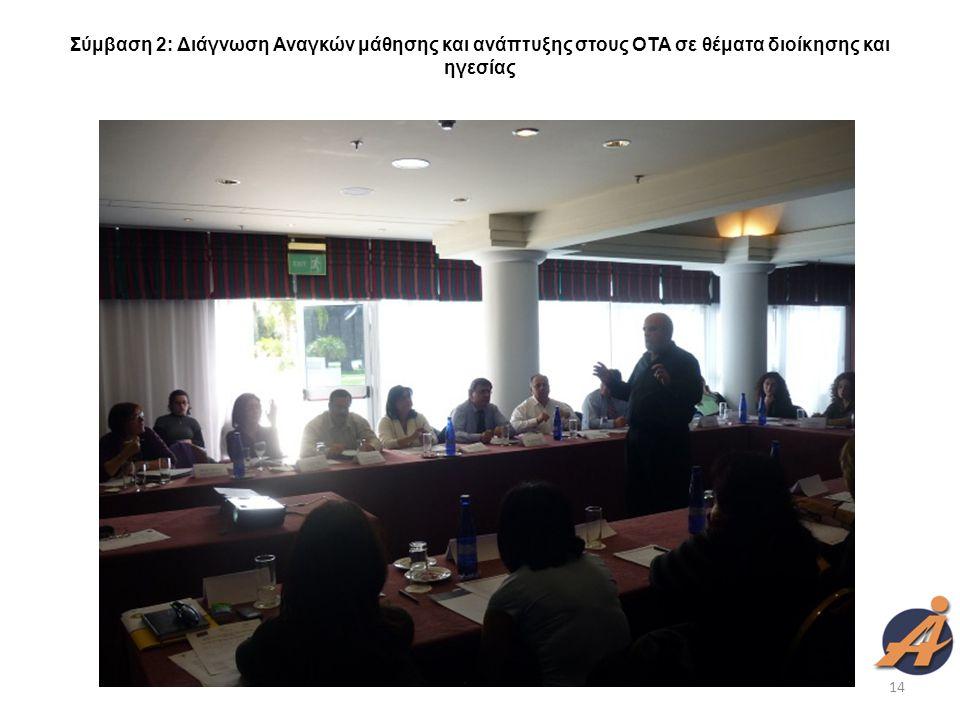 Σύμβαση 2: Διάγνωση Αναγκών μάθησης και ανάπτυξης στους ΟΤΑ σε θέματα διοίκησης και ηγεσίας 14