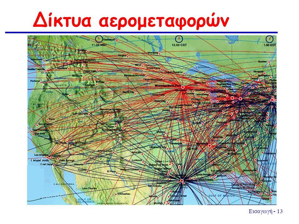 Εισαγωγή - 13 Δίκτυα αερομεταφορών