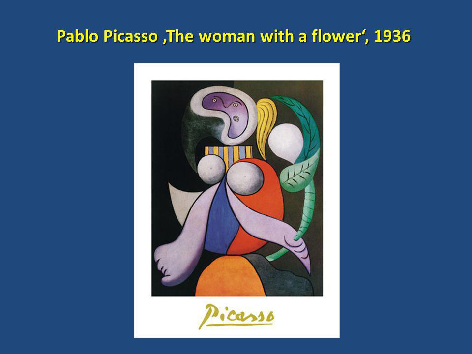 Pablo Picasso 'The woman with a flower', 1936 Pablo Picasso 'The woman with a flower', 1936