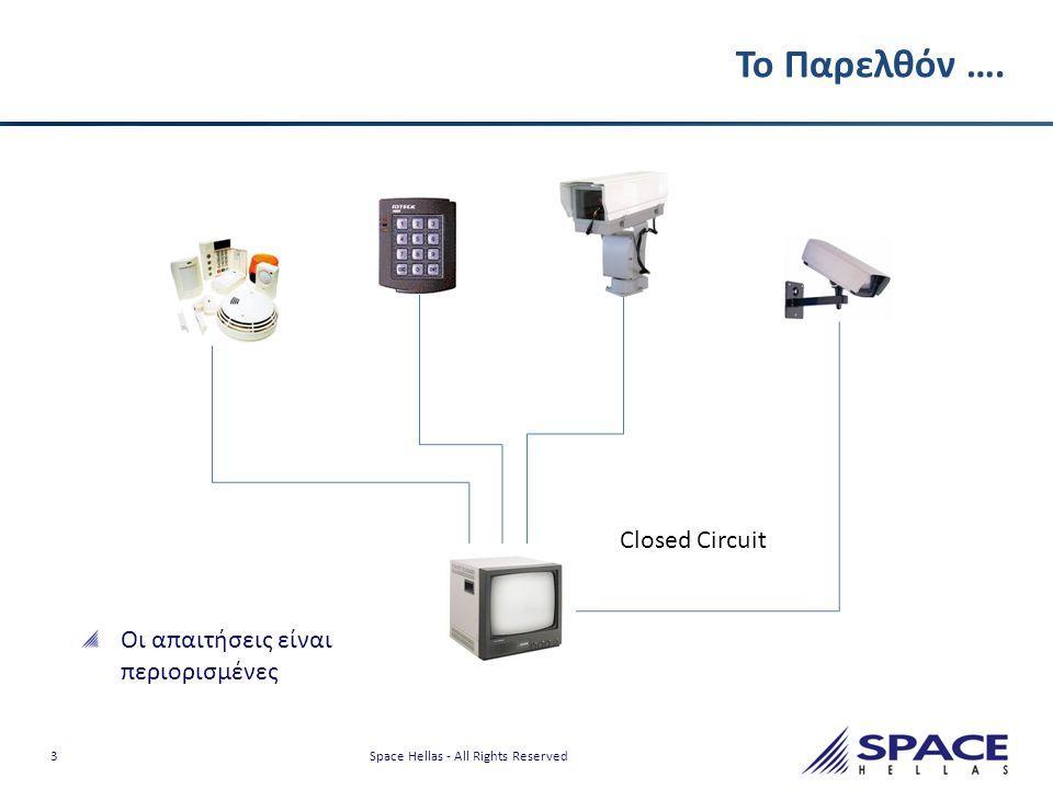 14 Space Hellas - All Rights Reserved Από τις κλασσικές λύσεις περιμετρικής προστασίας στη χρήση των Video Analytics Οι κλασικές λύσεις περιμετρικής προστασίας (μικροκυματικά-υπέρυθρα ραντάρ, περιμετρικό καλώδιο) συνεχίζουν να εξελίσσονται και αυξάνεται ακρίβεια που προσφέρουν Σε ορισμένες περιπτώσεις είναι η μοναδική λύση Τα συστήματα αυτά χρήζουν επικουρικής υποστήριξης από σύστημα εποπτείας ώστε να επαληθευτεί το συμβάν και να αναγνωριστεί ο εισβολέας Τα συστήματα CCTV με την χρήση video analytics μπορούν να αναγνωρίζουν κακόβουλες ενέργειες πριν ακόμα πραγματοποιηθούν και να δώσουν άμεσες απαντήσεις σε όλα τα κρίσιμα ερωτήματα: • Ποιος, τι, πού, πότε και πώς Τα συστήματα είναι οικονομικότερα και ευκολότερα στην εγκατάσταση.
