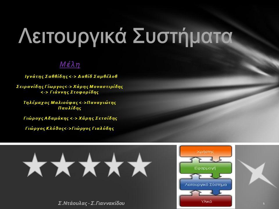 λειτουργικό σύστημα  Χαρακτηρίζεται μία συλλογή βασικών προγραμμάτων, η οποία ελέγχει τη λειτουργία του υπολογιστή συνολικά και χρησιμοποιείται ως υπόβαθρο για την εκτέλεση όλων των υπόλοιπων προγραμμάτων, τη διαχείριση των περιφερειακών συσκευών και την εξασφάλιση της επικοινωνίας μεταξύ χρήστη και υπολογιστή Πώς Λειτουργεί  Είναι ένα επίπεδο λογισμικού που μεσολαβεί μεταξύ του υλικού και των εκτελούμενων προγραμμάτων σε έναν ηλεκτρονικό υπολογιστή.