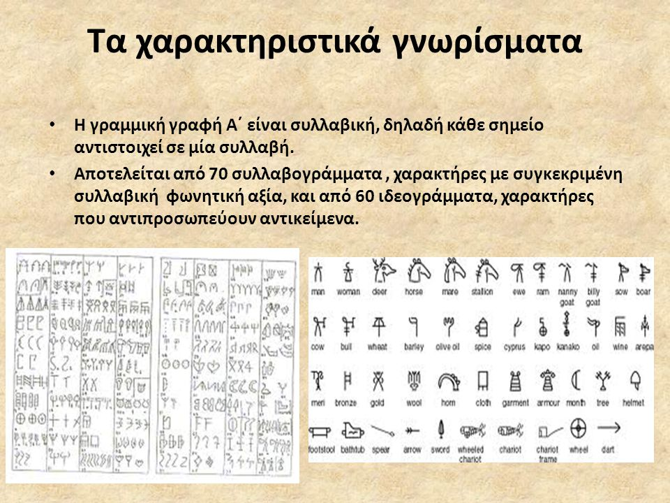 Υλικά γραφής • Τα σωζόμενα κείμενα είναι χαραγμένα σε ποικίλα υλικά όπως κονίαμα, πηλό, πέτρα, μέταλλα.
