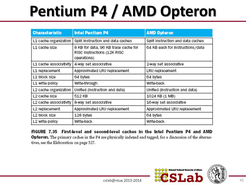 Pentium P4 / AMD Opteron cslab@ntua 2013-2014 46