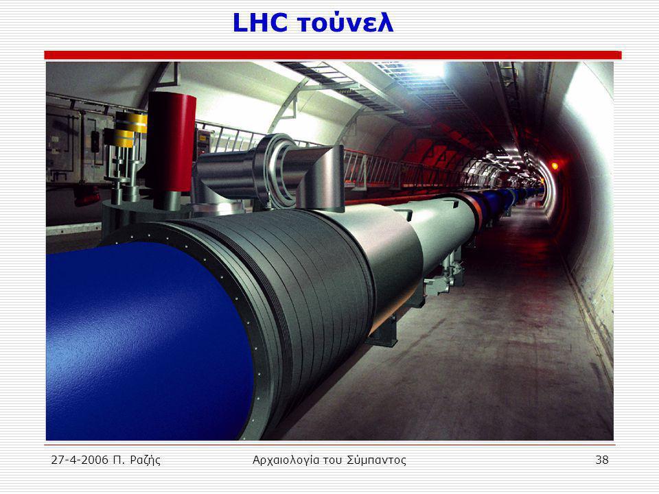 27-4-2006 Π. ΡαζήςΑρχαιολογία του Σύμπαντος38 LHC τούνελ
