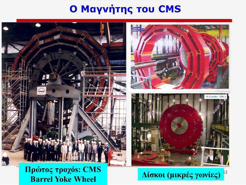 43 Πρώτος τροχόs: CMS Barrel Yoke Wheel Δίσκοι (μικρές γωνίες) Ο Μαγνήτης του CMS
