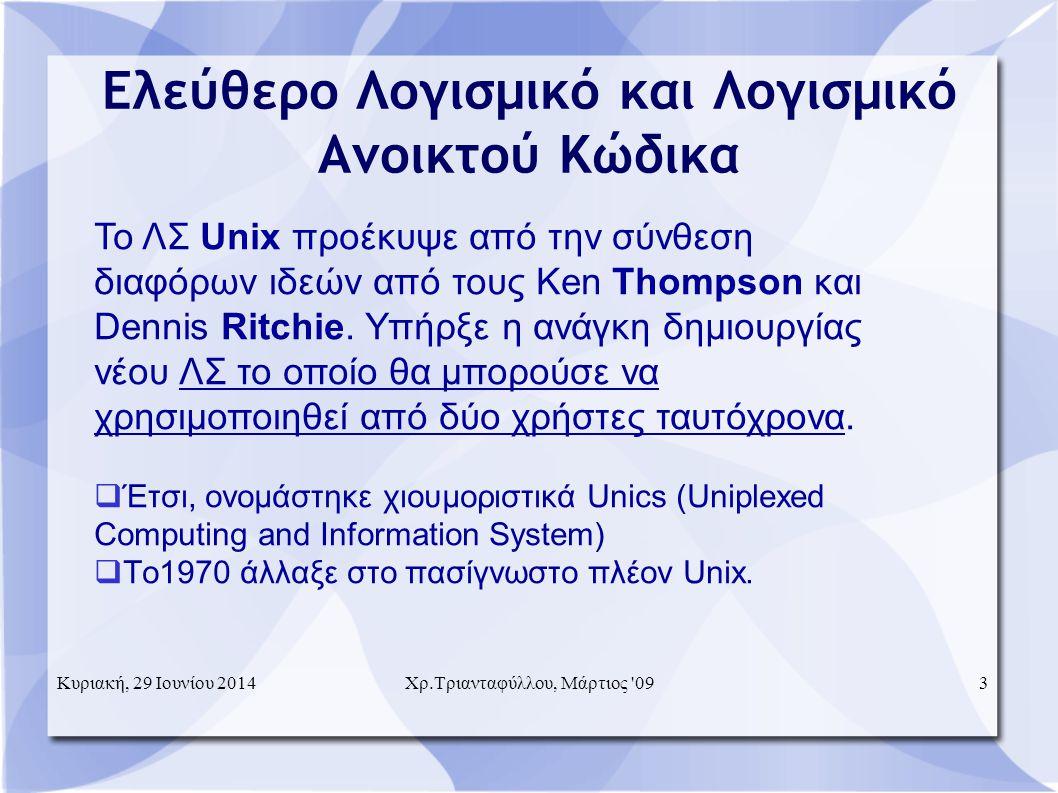 Το ΛΣ Unix προέκυψε από την σύνθεση διαφόρων ιδεών από τους Ken Thompson και Dennis Ritchie.