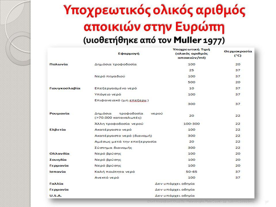 Τακτική καταμέτρηση του αριθμού αποικιών από ένα σύστημα διανομής, ωστόσο, παρέχει χρήσιμα στοιχεία με τα οποία αξιολογούνται όλες οι μακροπρόθεσμες τ
