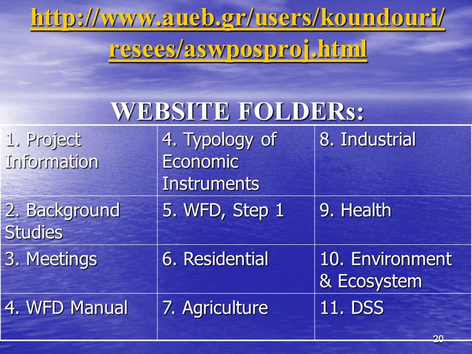 20 http://www.aueb.gr/users/koundouri/ resees/aswposproj.html http://www.aueb.gr/users/koundouri/ resees/aswposproj.html WEBSITE FOLDERs: http://www.aueb.gr/users/koundouri/ resees/aswposproj.html 1.