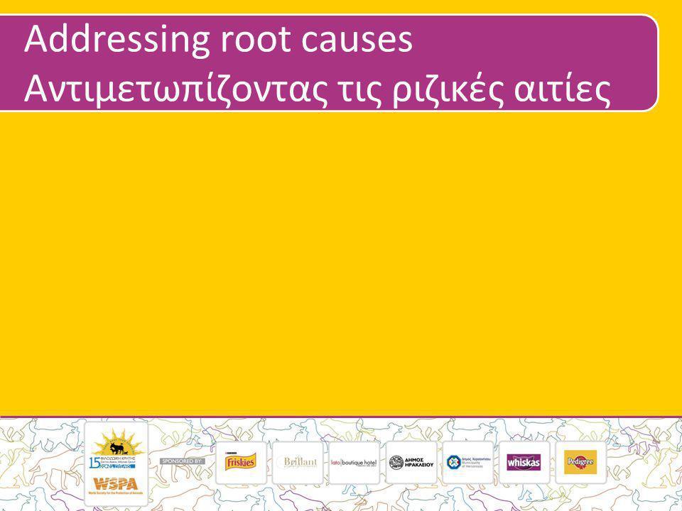 Addressing root causes Αντιμετωπίζοντας τις ριζικές αιτίες