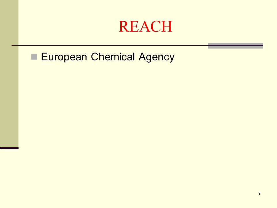 9 REACH  European Chemical Agency