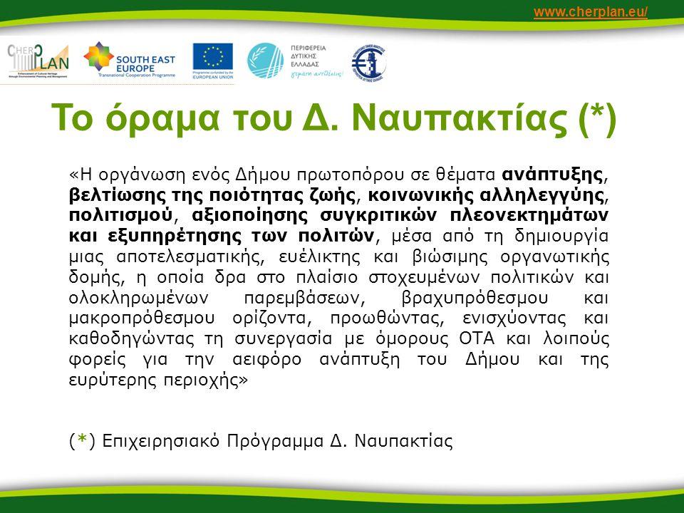 www.cherplan.eu/ Το όραμα του Δ.