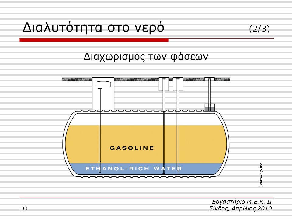 30 Διαλυτότητα στο νερό (2/3) Εργαστήριο Μ.Ε.Κ.