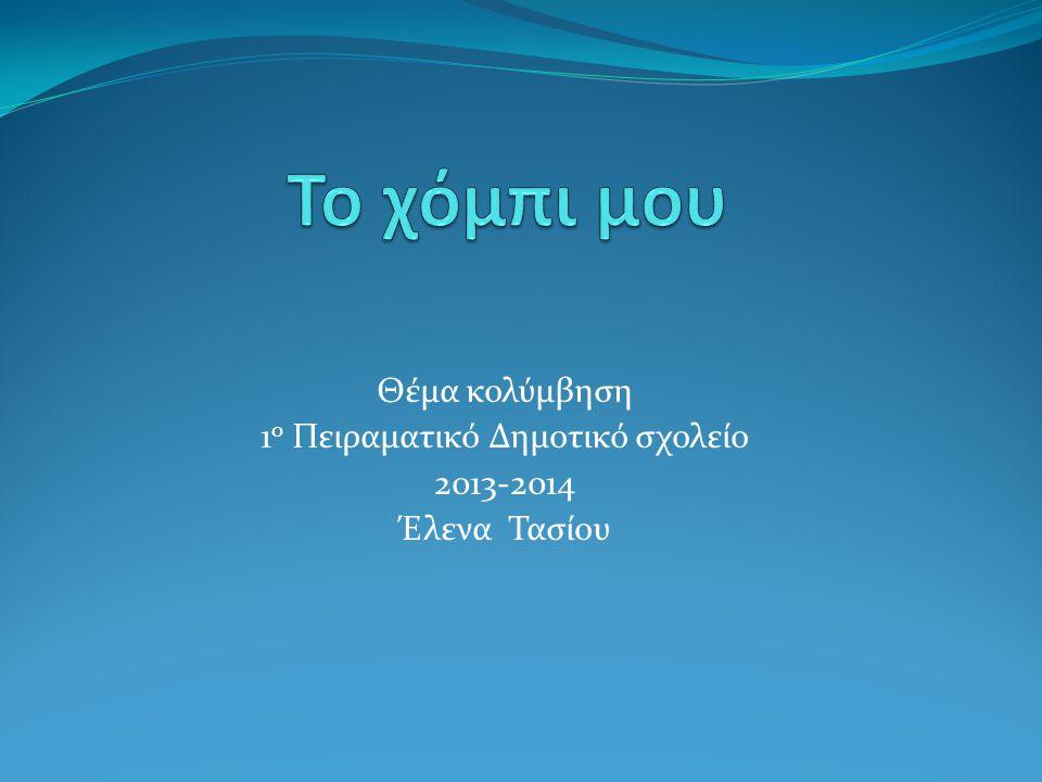 Θέμα κολύμβηση 1 ο Πειραματικό Δημοτικό σχολείο 2013-2014 Έλενα Τασίου