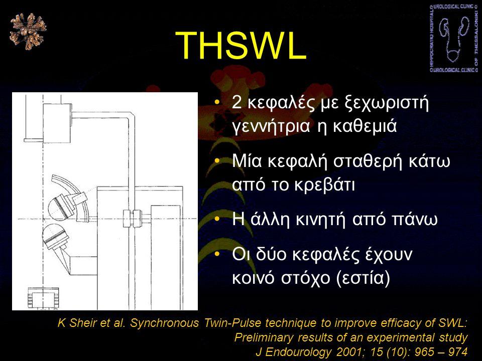 THSWL •2 κεφαλές με ξεχωριστή γεννήτρια η καθεμιά •Μία κεφαλή σταθερή κάτω από το κρεβάτι •Η άλλη κινητή από πάνω •Οι δύο κεφαλές έχουν κοινό στόχο (εστία) K Sheir et al.
