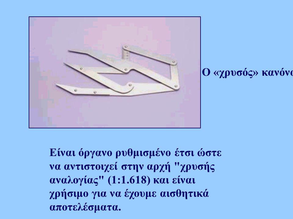 Ο «χρυσός» κανόνας Είναι όργανο ρυθμισμένο έτσι ώστε να αντιστοιχεί στην αρχή