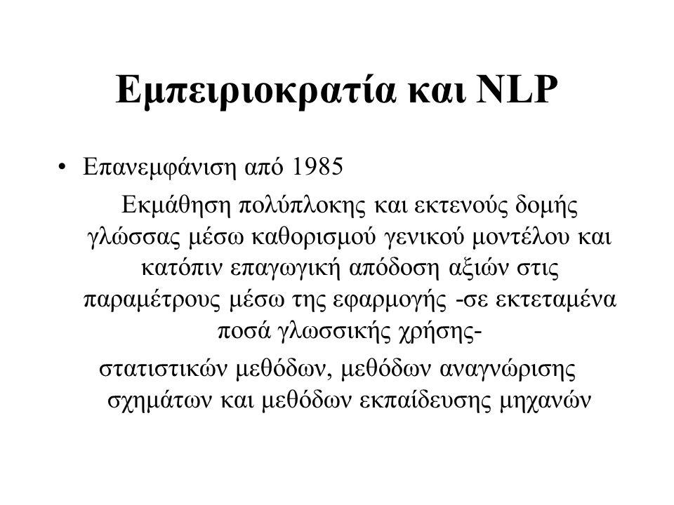 Eθνικός Θησαυρός Ελληνικής Γλώσσας (ΙΕΛ) http:// hnc.ilsp.gr •Περισσότερες από 34.000.000 λέξεις, με συνεχή εμπλουτισμό.