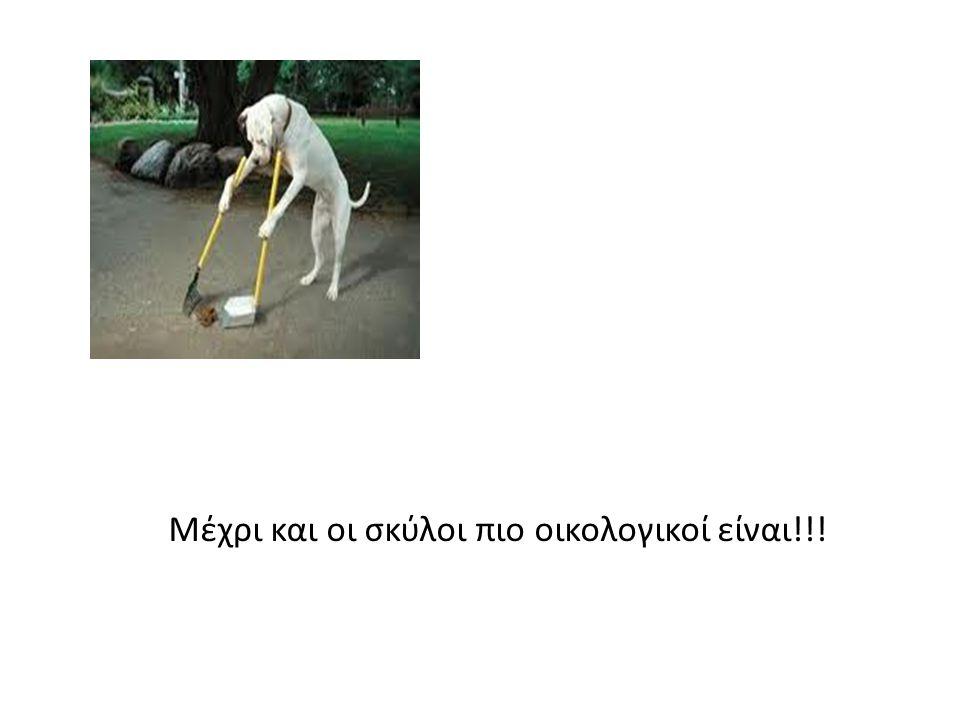 Μέχρι και οι σκύλοι πιο οικολογικοί είναι!!!