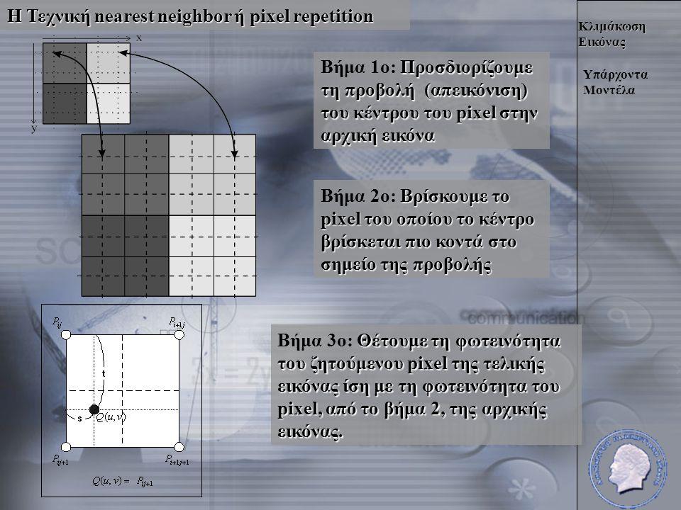 Κλιμάκωση Εικόνας Υλοποίηση του Μοντέλου Το Πρόβλημα του Χρόνου Έτσι ο αλγόριθμος για να υπολογίσουμε το είναι : όπου Χ1 η αρχική προσεγγιστική τιμή.