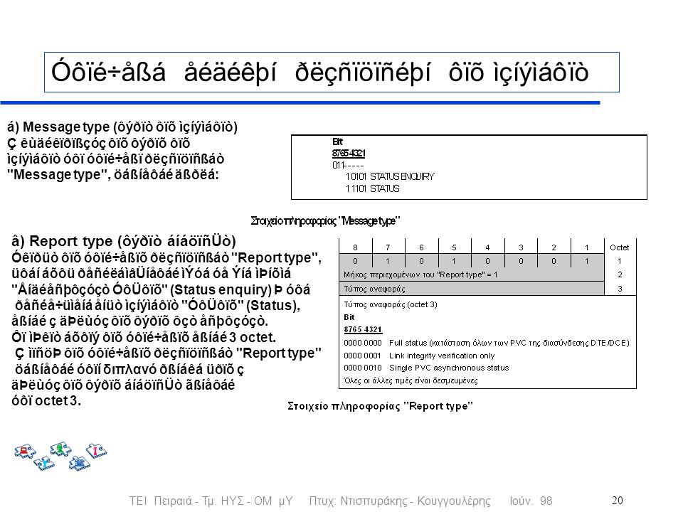 ΤΕΙ Πειραιά - Τμ. ΗΥΣ - ΟΜ μΥ Πτυχ: Ντισπυράκης - Κουγγουλέρης Ιούν.