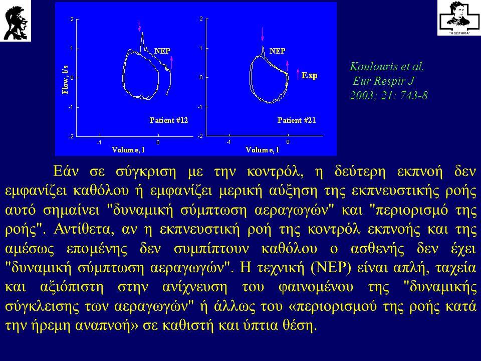 Εάν σε σύγκριση με την κοντρόλ, η δεύτερη εκπνοή δεν εμφανίζει καθόλου ή εμφανίζει μερική αύξηση της εκπνευστικής ροής αυτό σημαίνει