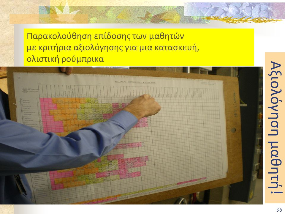 35 Συνθετική εργασία που αξιολογείται σαν μάθημα για την εισαγωγή στην Ανώτατη Εκπαίδευση! Πρακτική άσκηση στην επιχείρηση Μέχρι 120 μονάδες 15 ημέρες