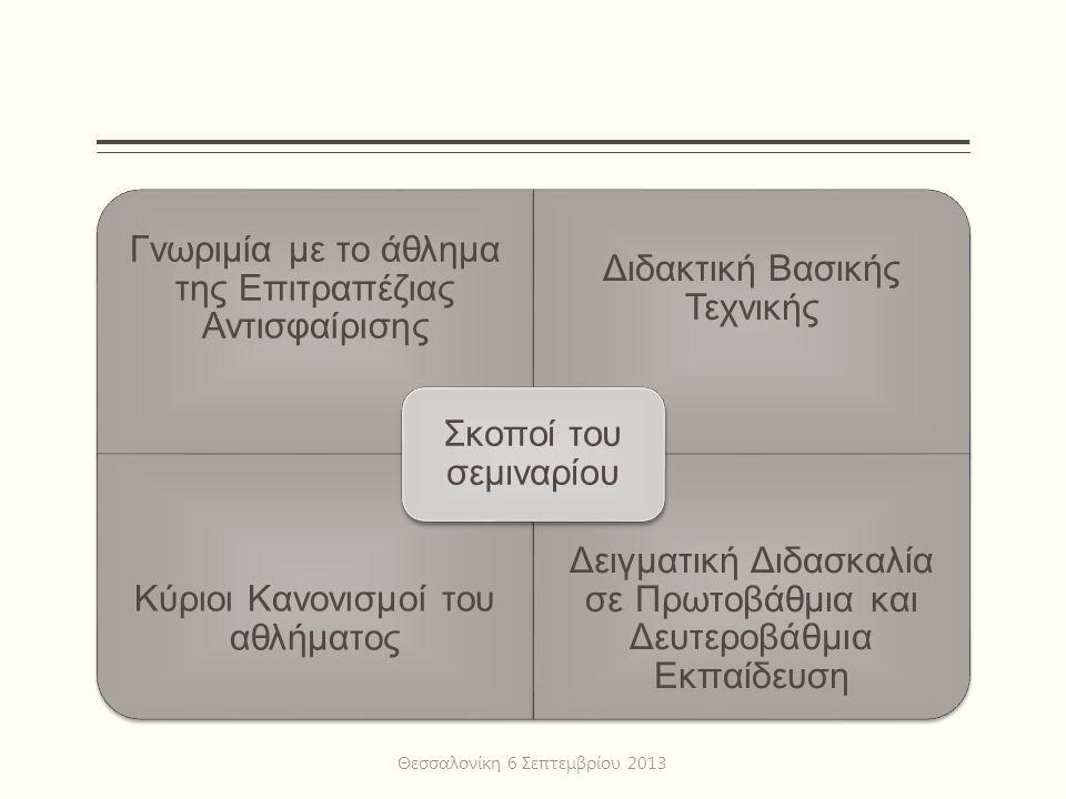 Συστήματα Διοργάνωσης Αγώνων Θεσσαλονίκη 6 Σεπτεμβρίου 2013