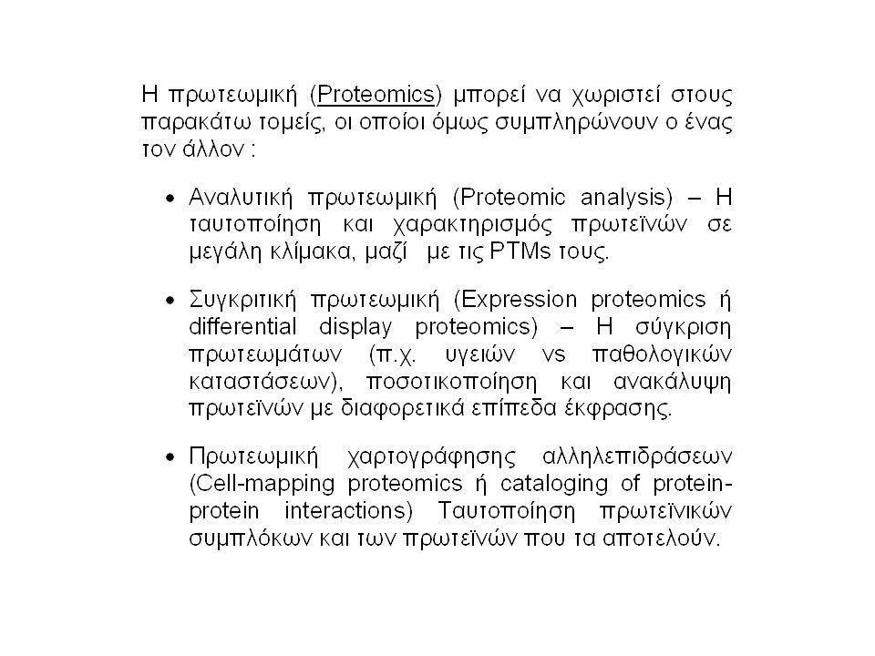 Συμπεράσματα Η πρωτεωμική παρέχει μία σειρά αναλυτικών τεχνικών με εξαιρετική ικανότητα για τη μελέτη σε μεγάλη κλίμακα της λειτουργίας των γονιδίων απ ευθείας στο επίπεδο των πρωτεινών.