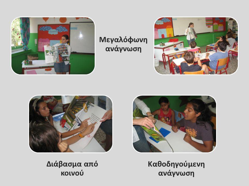 Μεγαλόφωνη ανάγνωση Καθοδηγούμενη ανάγνωση Διάβασμα από κοινού