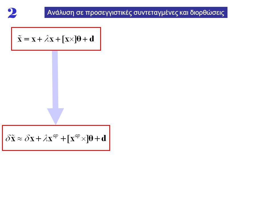 Ανάλυση σε προσεγγιστικές συντεταγμένες και διορθώσεις 2