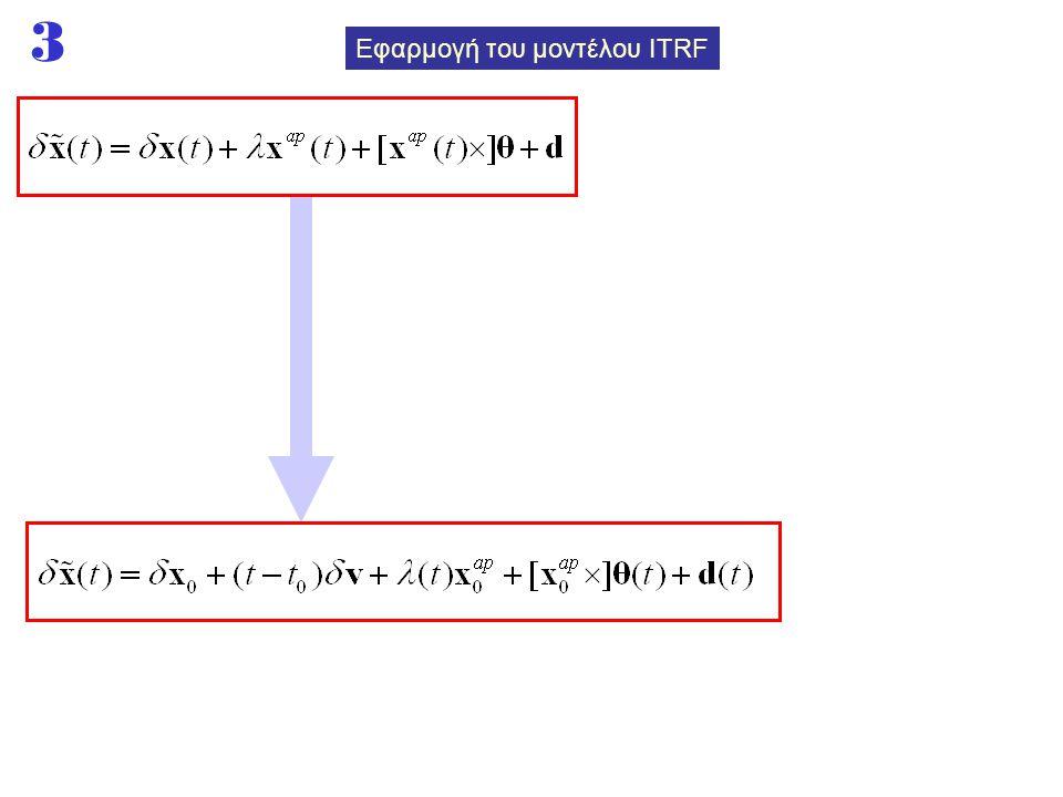 3 Εφαρμογή του μοντέλου ITRF