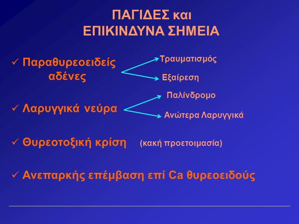 Βήμα 6 ο Αναγνώριση άνω παραθυρεοειδών