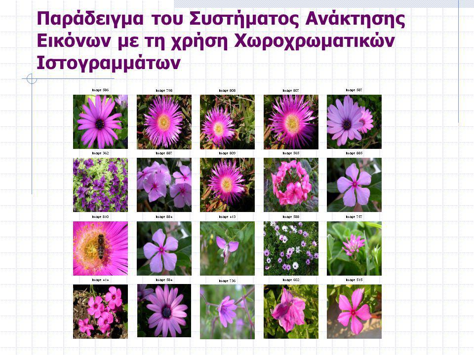 Παράδειγμα του Συστήματος Ανάκτησης Εικόνων με τη χρήση Χωροχρωματικών Ιστογραμμάτων