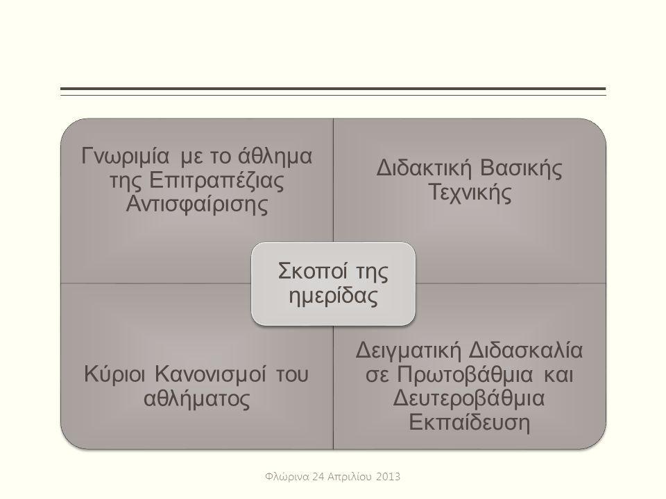 Βασικοί Κανονισμοί Το σέρβις Φλώρινα 24 Απριλίου 2013