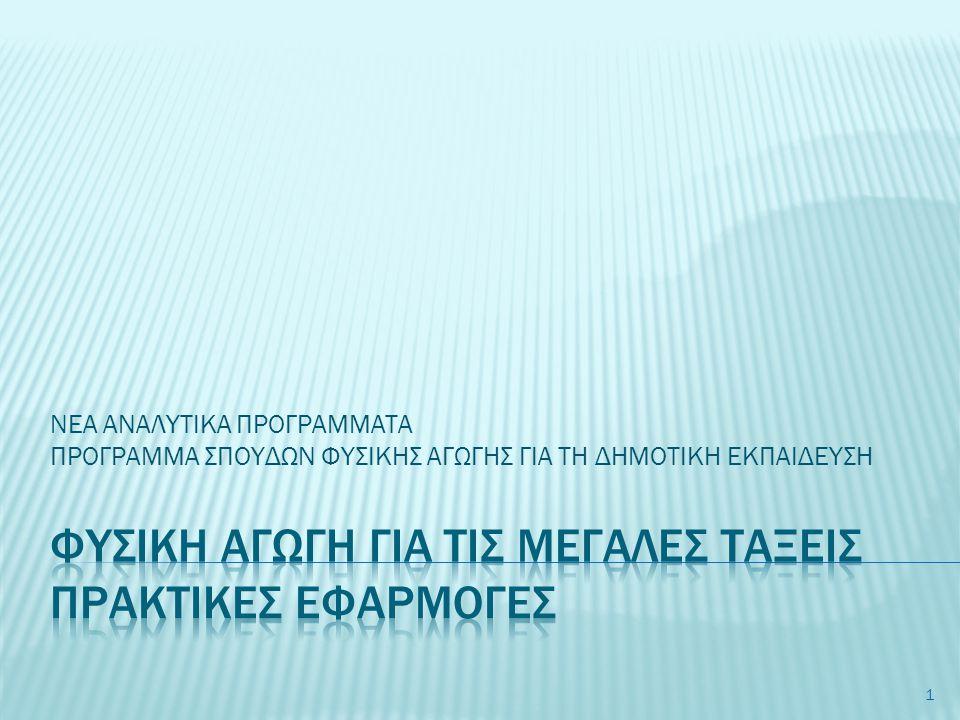  Εφαρμογή βασικών κινητικών δεξιοτήτων και κινητικών εννοιών μέσα από τη θεματική ενότητα:  Παιχνίδια «άμυνας και επίθεσης»  Σκοπός & επιμέρους στόχοι  Γενικές αρχές «άμυνας & επίθεσης»  Σταδιακή ανάπτυξη δεξιοτήτων σε κάθε παιχνίδι  Προγραμματισμός και διδακτικά σημεία έμφασης  Δείγμα ημερησίου σχεδίου μαθήματος  Δραστηριότητες παιχνιδιών  Μοντέλο Αθλητικής Παιδείας 2