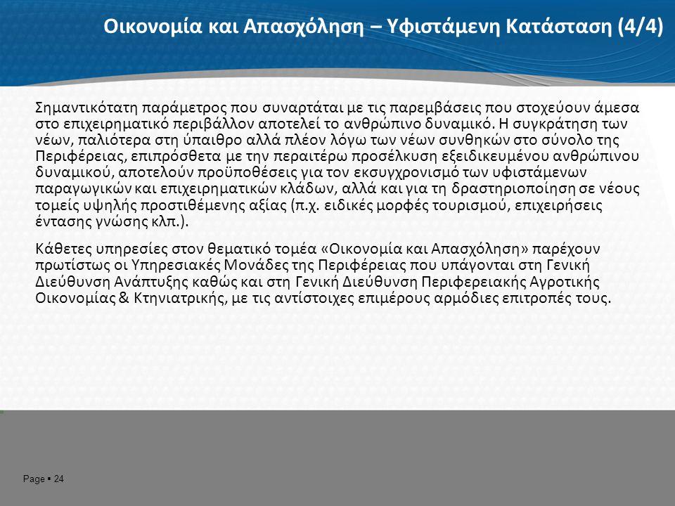 1.5 Η οργάνωση και λειτουργία της Περιφέρειας ως Οργανισμού και οι οριζόντιες υπηρεσίες