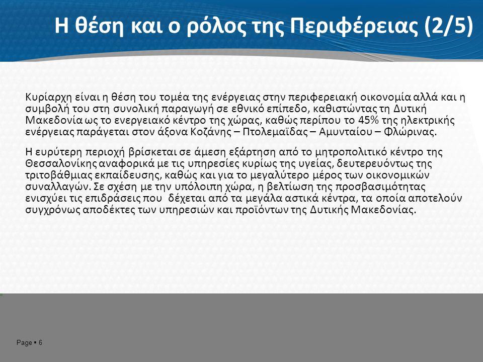 Page  7 Η θέση και ο ρόλος της Περιφέρειας (3/5) ΓΕΝΙΚΟ ΠΛΑΙΣΙΟ ΧΩΡΟΤΑΞΙΚΟΥ ΣΧΕΔΙΑΣΜΟΥ ΚΑΙ ΑΕΙΦΟΡΟΥ ΑΝΑΠΤΥΞΗΣ ΤΗΣ ΕΛΛΑΔΑΣ Πύλη της Ελλάδας προς τις χώρες των Δυτικών Βαλκανίων