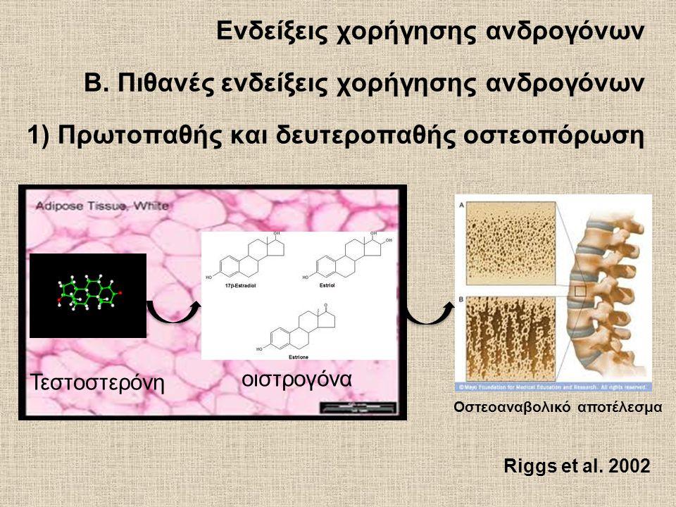 Ενδείξεις χορήγησης ανδρογόνων B.