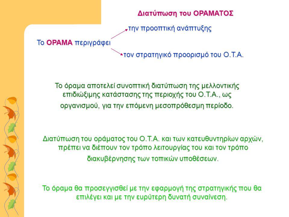 Διατύπωση του οράματος του Ο.Τ.Α.