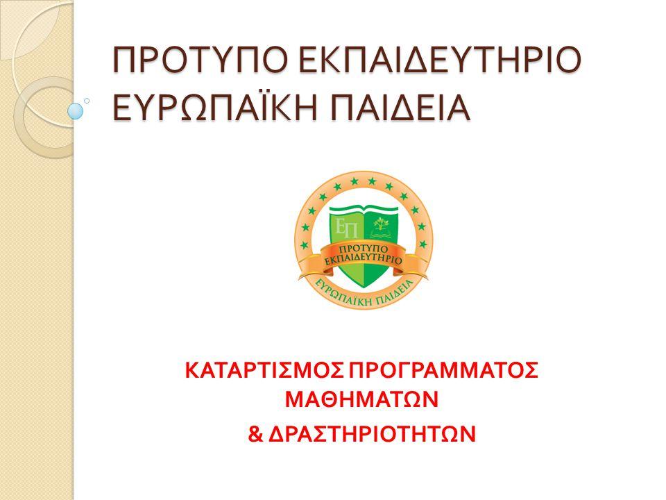 ΒΑΣΙΚΟΙ ΑΞΟΝΕΣ καταρτισμού προγράμματος  ΤΙ είναι να γίνει: περιεχόμενο των μαθημάτων και των δραστηριοτήτων, βασισμένο στο Αναλυτικό Πρόγραμμα του Υπουργείου και σε αυτά που εμείς θεωρούμε απαραίτητα για τους μαθητές  ΠΟΤΕ θα γίνει: καταρτισμός ωρολογίου προγράμματος μαθημάτων και δραστηριοτήτων  ΠΩΣ θα γίνει: η φιλοσοφία μας