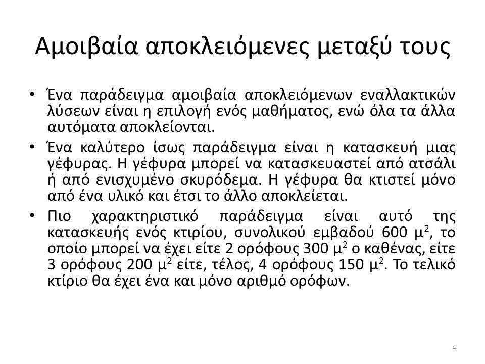Βυθισμένο Κόστος • Το βυθισμένο κόστος στην περίπτωση αυτή είναι τα 500 Ευρώ.