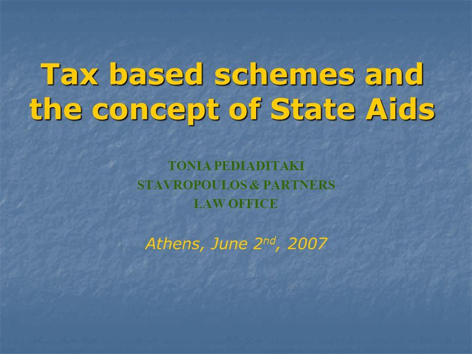 2 Διάγραμμα / Outline Ι.Κρατικές ενισχύσεις και Φορολογία   1.