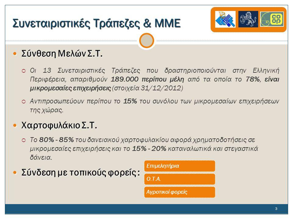 Συνεταιριστικές Τράπεζες & ΜΜΕ  Σύνθεση Μελών Σ.Τ.