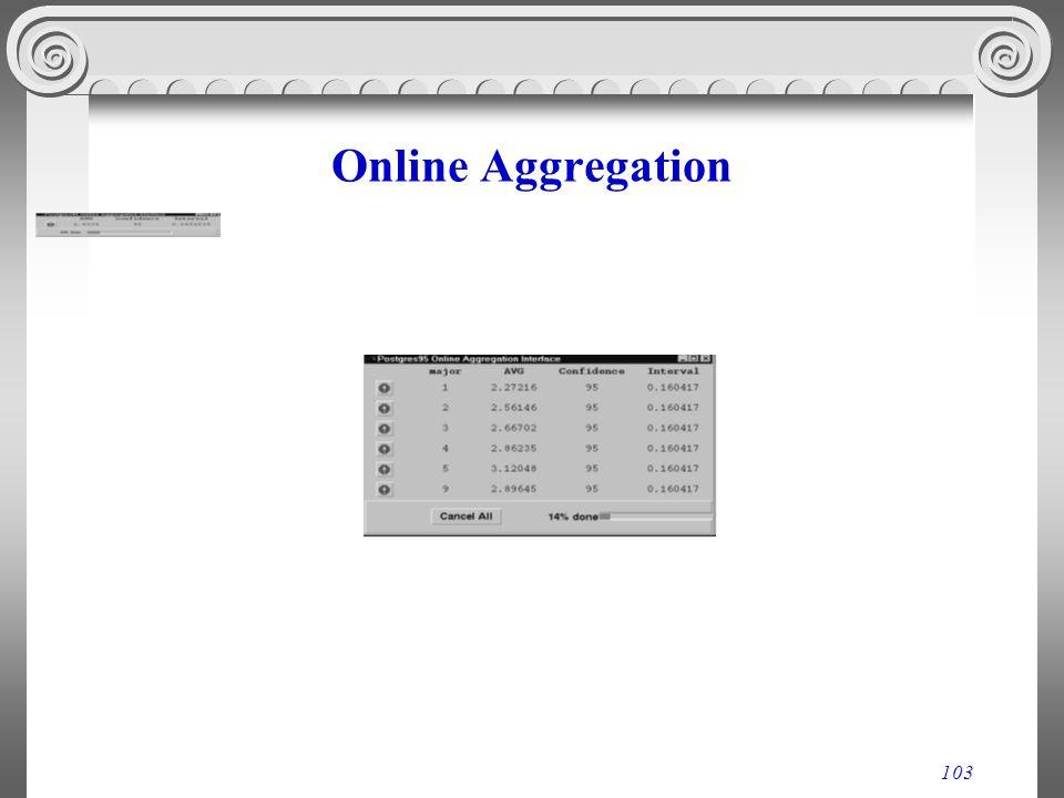 103 Online Aggregation