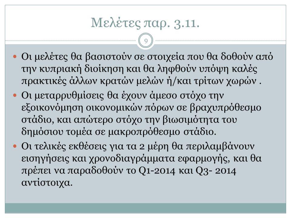 Μελέτες παρ. 3.11.