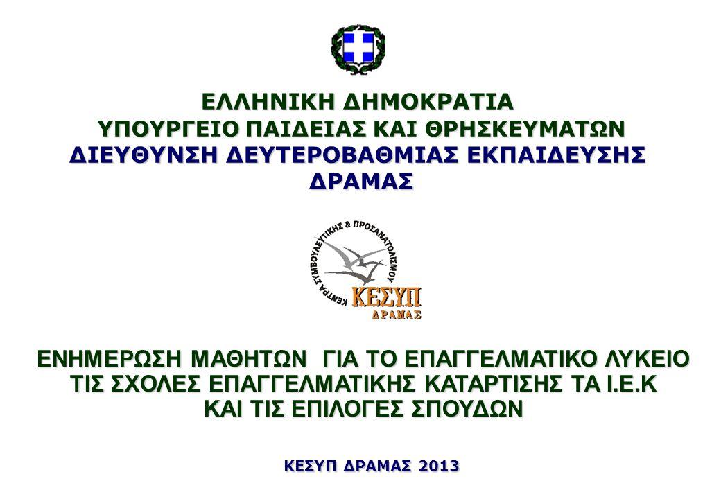 Για περισσότερες πληροφορίες απευθυνθείτε στο ΚΕΣΥΠ ΔΡΑΜΑΣ Διοικητήριο Δράμας 4 ος όροφος γρ.434,435 Τηλ.-Φαξ: 2521 351 434, 435 E-mail: kesyp@dide.dra.sch.gr Iστοχώρος: http://kesyp.dra.sch.gr