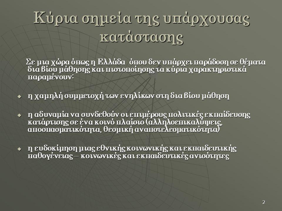 3 Η διαχρονική ελληνική παθογένεια  εμπόριο τίτλων και πιστοποιητικών (ξένες γλώσσες, πληροφορική κλπ)  πλαστά απολυτήρια με προορισμό τον ΑΣΕΠ  «φάμπρικες» φροντιστηρίων και ιδιωτικών εκπαιδευτικών οργανισμών που εμπορεύονται πιστοποιημένη γνώση- ήδη ιδιωτικοί εκπαιδευτικοί οργανισμοί μετατρέπονται σε οργανισμούς πιστοποίησης εκπαιδευτικών οργανισμών που εμπορεύονται πιστοποιημένη γνώση- ήδη ιδιωτικοί εκπαιδευτικοί οργανισμοί μετατρέπονται σε οργανισμούς πιστοποίησης  δεκάδες οργανισμοί που δρουν ανεξέλεγκτα στο χώρο της κατάρτισης-πιστοποίησης πουλώντας όνειρα και ελπίδες στο χώρο της κατάρτισης-πιστοποίησης πουλώντας όνειρα και ελπίδες  διαχρονική αδυναμία της ελληνικής πολιτείας να βάλει ένα οριστικό τέλος στην ιδιωτική αισχροκέρδεια