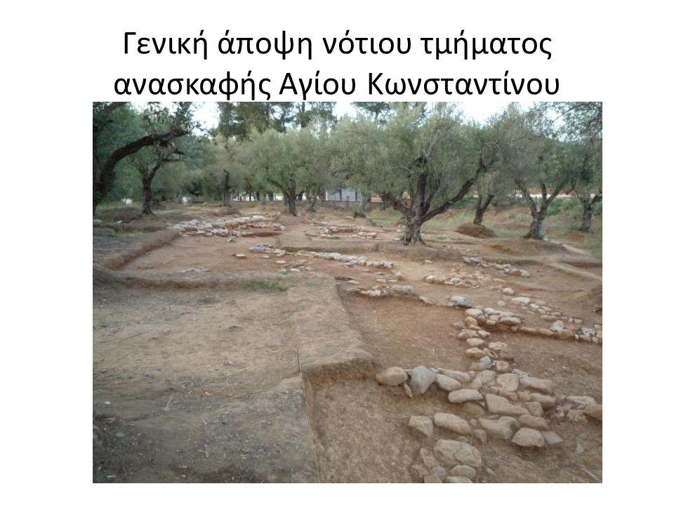 Γενική άποψη νότιου τμήματος ανασκαφής Αγίου Κωνσταντίνου