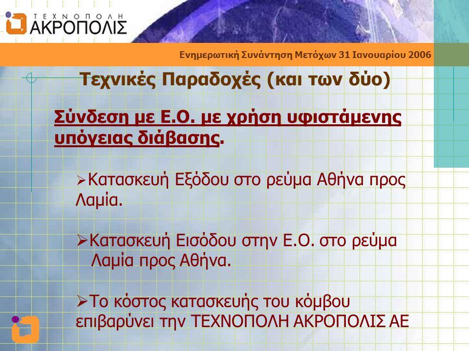 Ενημερωτική Συνάντηση Μετόχων 31 Ιανουαρίου 2006 Ειδικές Περιπτώσεις  ΔΔΠ με ζητούμενα Τ.Μ > από τον κανόνα ένα Τ.Μ ανά 25 Μετοχές  ΔΔΠ με ζητούμενα Τ.Μ < από τον κανόνα ένα Τ.Μ ανά 25 Μετοχές  Μη Υποβολή ΔΔΠ  Εγκατάλειψη της Διαδικασίας μετά την υποβολή του ΔΔΠ